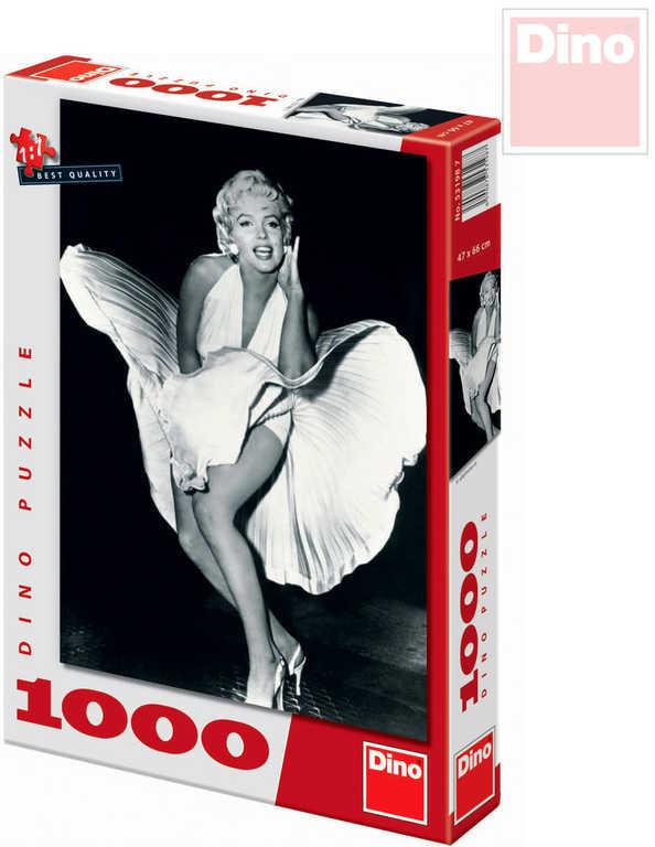 DINO Puzzle Marilyn Monroe XL 47x66cm 1000 dílků černobílé v krabici