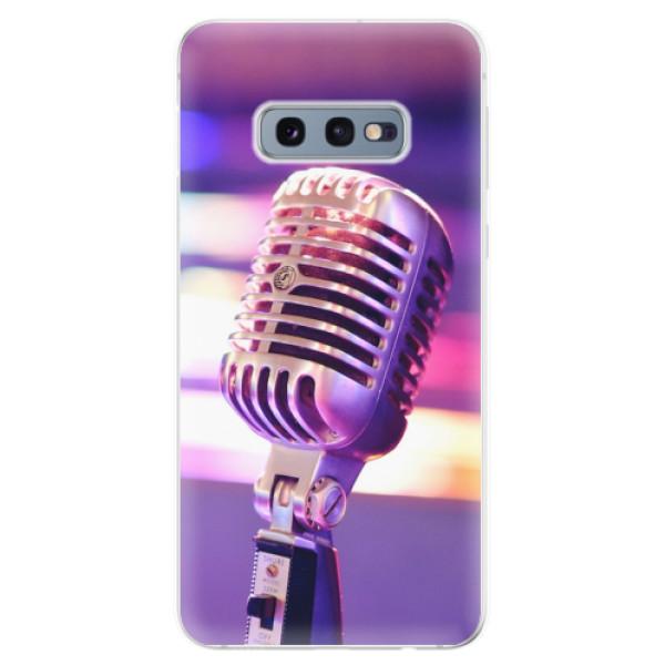 Odolné silikonové pouzdro iSaprio - Vintage Microphone - Samsung Galaxy S10e