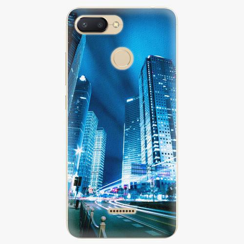 Silikonové pouzdro iSaprio - Night City Blue - Xiaomi Redmi 6
