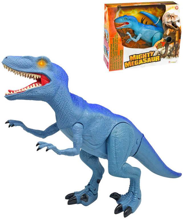 ADC Mighty Megasaur Raptor chodící dinosaurus 40cm ještěr na baterie Světlo Zvuk