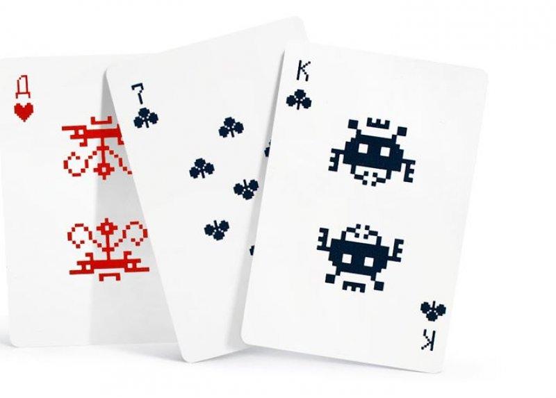 Hrací karty Vetřelci zvesmíru (Space Invaders)