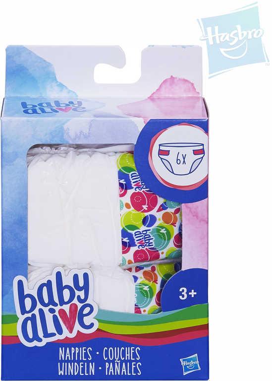 HASBRO Náhradní plíny Baby Alive set 6ks pro panenku miminko