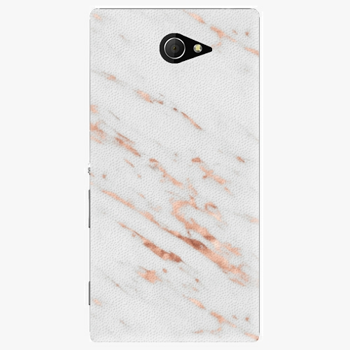 Plastový kryt iSaprio - Rose Gold Marble - Sony Xperia M2