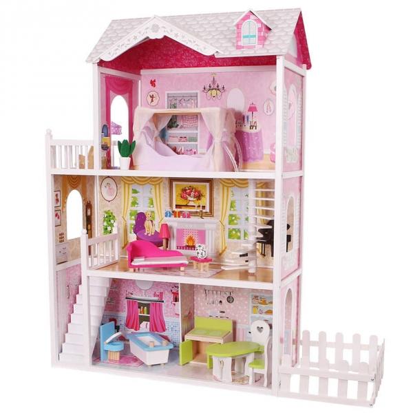 dreveny-domek-pro-panenky-se-zahradkou-eco-toys-rezidence-california