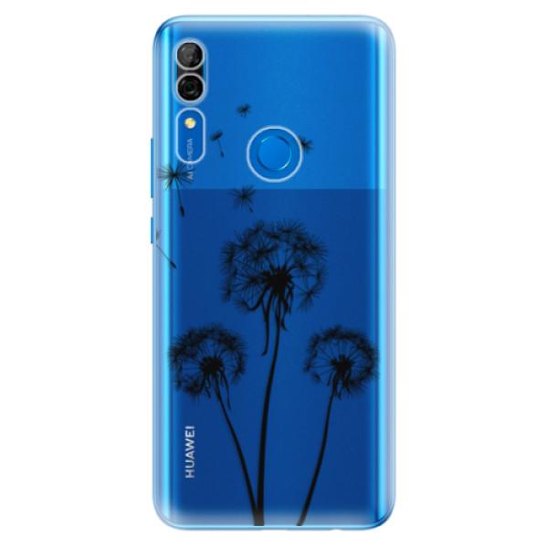 Odolné silikonové pouzdro iSaprio - Three Dandelions - black - Huawei P Smart Z