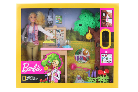 Barbie Entomoložka National Geographic herní set GDM49