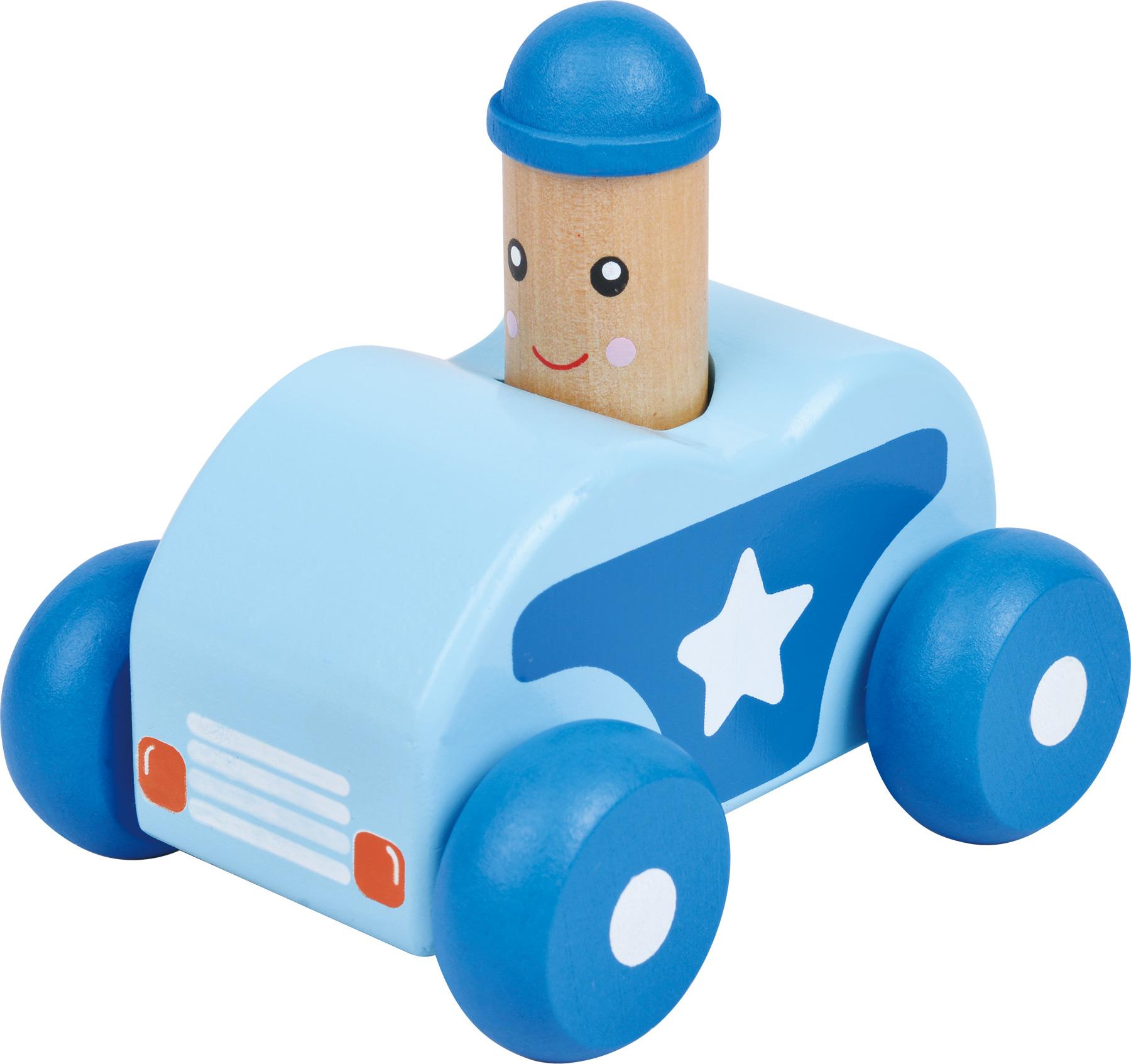 Small Foot Dřevěné autíčko 1ks modré