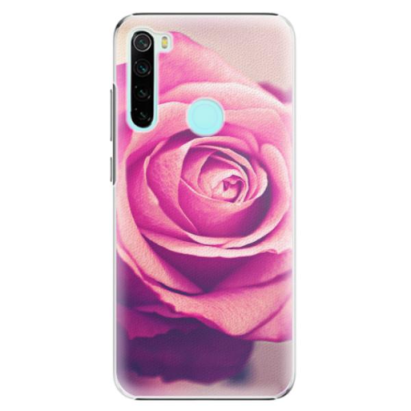 Plastové pouzdro iSaprio - Pink Rose - Xiaomi Redmi Note 8