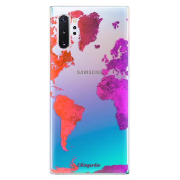Odolné silikonové pouzdro iSaprio - Warm Map - Samsung Galaxy Note 10+