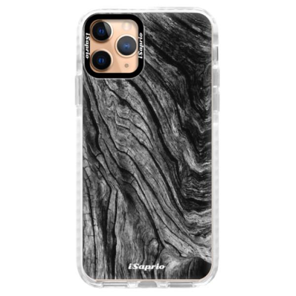 Silikonové pouzdro Bumper iSaprio - Burned Wood - iPhone 11 Pro