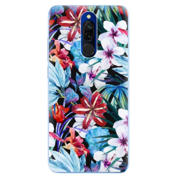 Odolné silikonové pouzdro iSaprio - Tropical Flowers 05 - Xiaomi Redmi 8