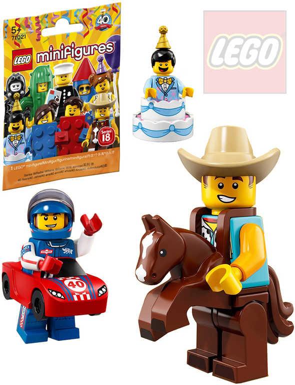 LEGO Minifigurky 18.série různé druhy v sáčku plast 71021 STAVEBNICE