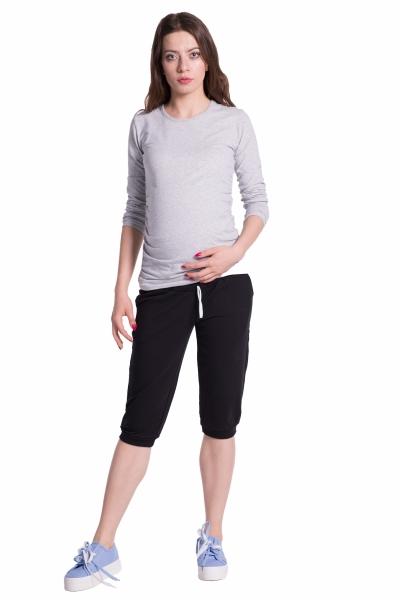 Be MaaMaa Moderní těhotenské 3/4 kalhoty s kapsami