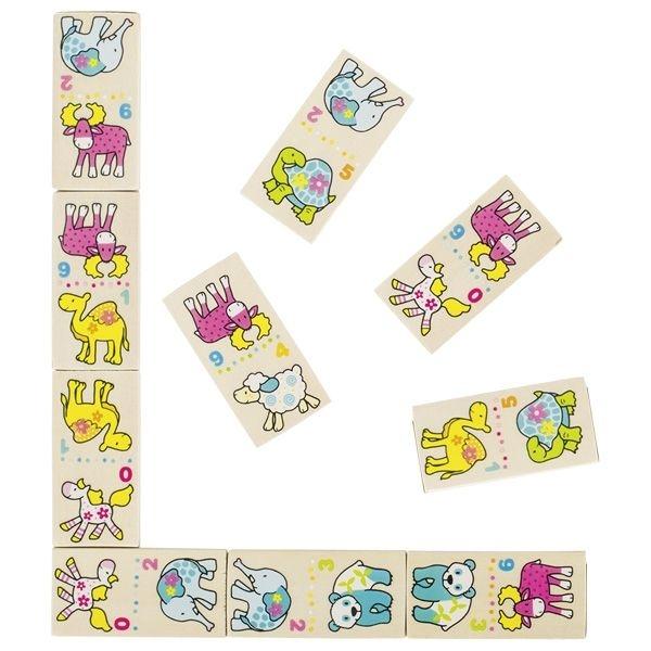Goki Dřevěné domino Susibelle - Zvířátka