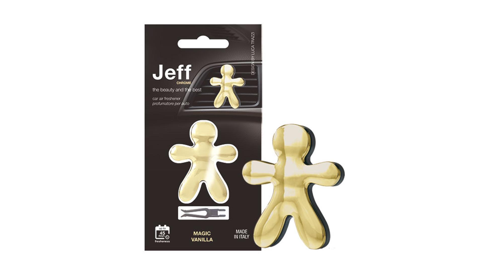 JEFF osvěžovač vzduchu zlatý chrome - Magic Vanilla