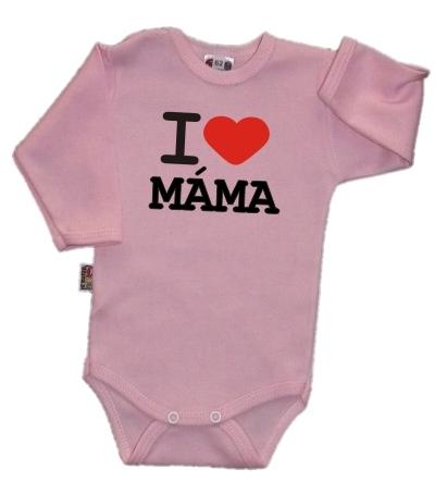 baby-dejna-body-dl-rukav-kolekce-i-love-mama-ruzove-vel-74-k19-74-6-9m