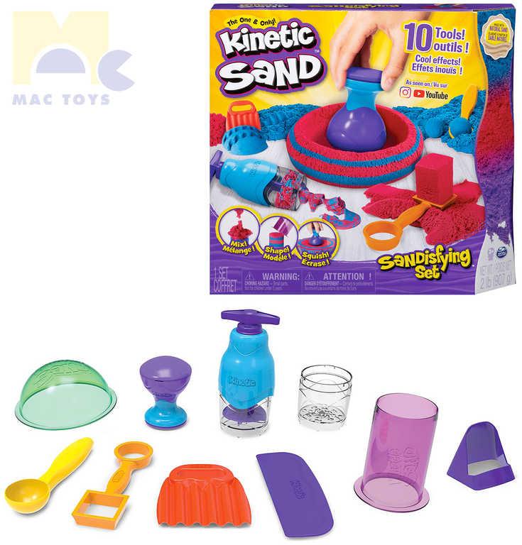 SPIN MASTER Písek Kinetic Sand fantastický kreativní set s nástroji 10ks