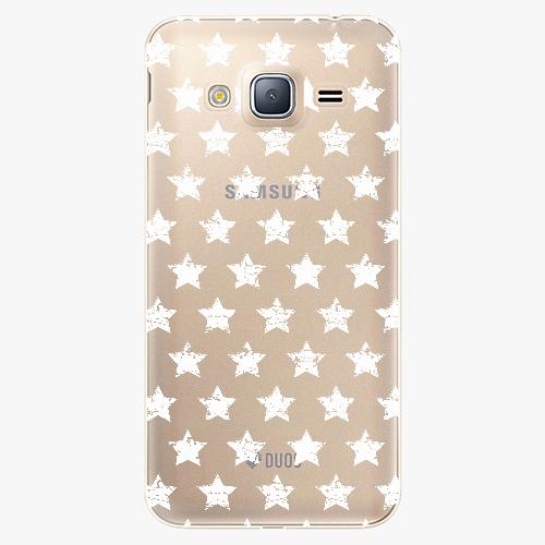 Plastový kryt iSaprio - Stars Pattern - white - Samsung Galaxy J3