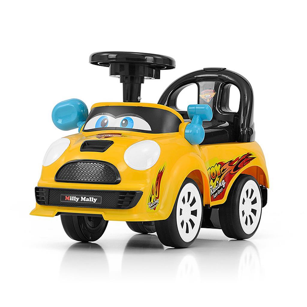 Dětské jezdítko se zvukem Milly Mally JOY - yellow - žlutá