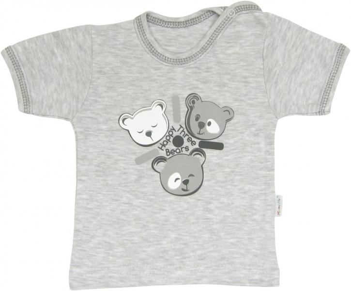 Mamatti Bavlněné tričko Veselí medvídci - krátký rukáv, roz.
