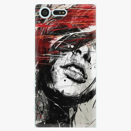 Plastový kryt iSaprio - Sketch Face - Sony Xperia X Compact