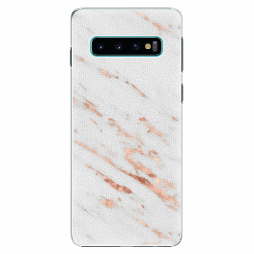 Plastový kryt iSaprio - Rose Gold Marble - Samsung Galaxy S10