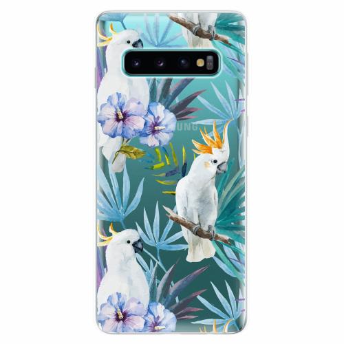 Silikonové pouzdro iSaprio - Parrot Pattern 01 - Samsung Galaxy S10