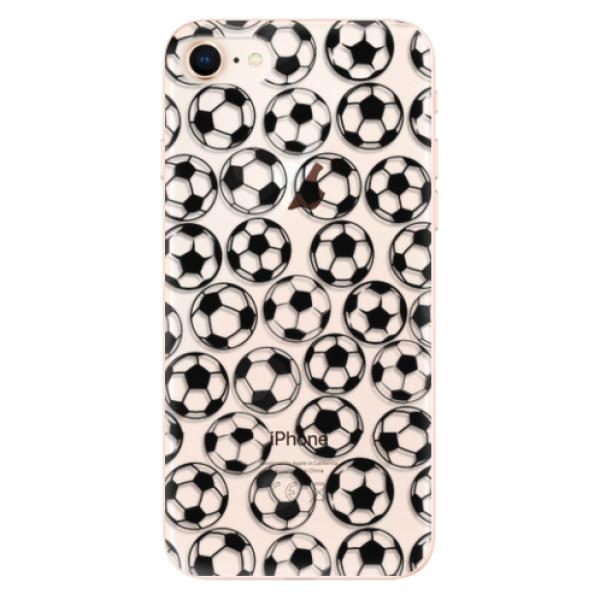 Odolné silikonové pouzdro iSaprio - Football pattern - black - iPhone 8