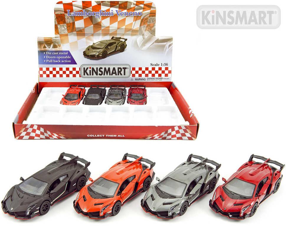 KINSMART Auto model 1:38 Lamborghini Veneno kov PB 13cm 4 barvy