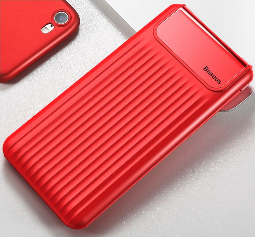 LCD powerbanka Wave - Červená