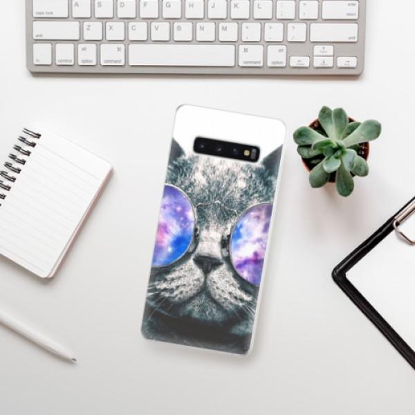 Odolné silikonové pouzdro iSaprio - Galaxy Cat - Samsung Galaxy S10+
