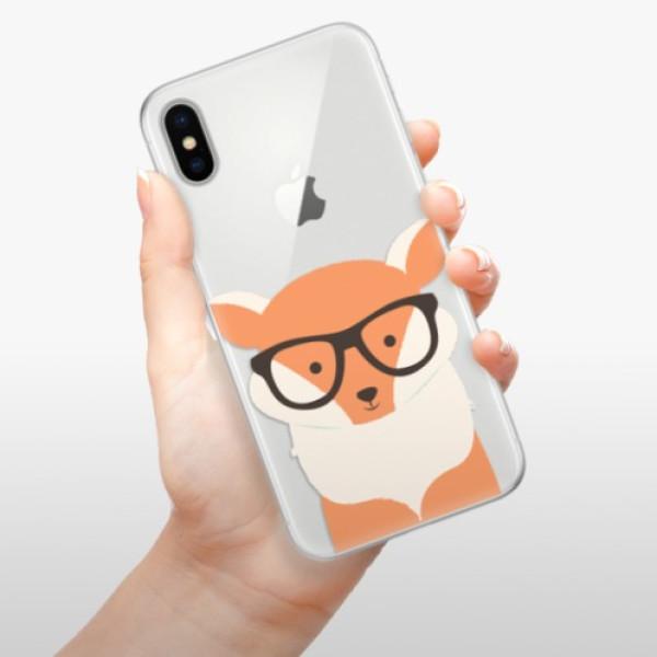Silikonové pouzdro iSaprio - Orange Fox - iPhone X