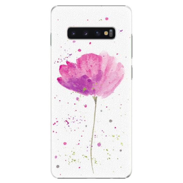 Plastové pouzdro iSaprio - Poppies - Samsung Galaxy S10+