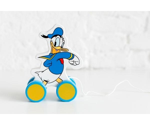 Dřevěná tahací hračka Disney - Kačer Donald, 14x6x17 cm