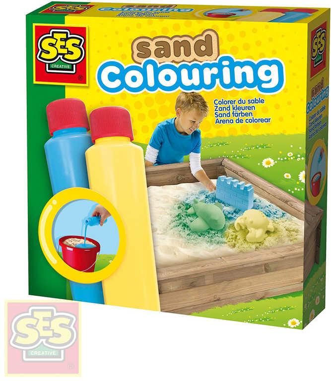 SES CREATIVE Barvy na písek set 2 tuby 2x200ml modrá + žlutá