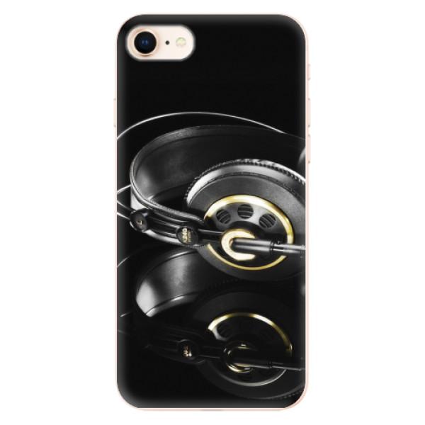 Odolné silikonové pouzdro iSaprio - Headphones 02 - iPhone 8