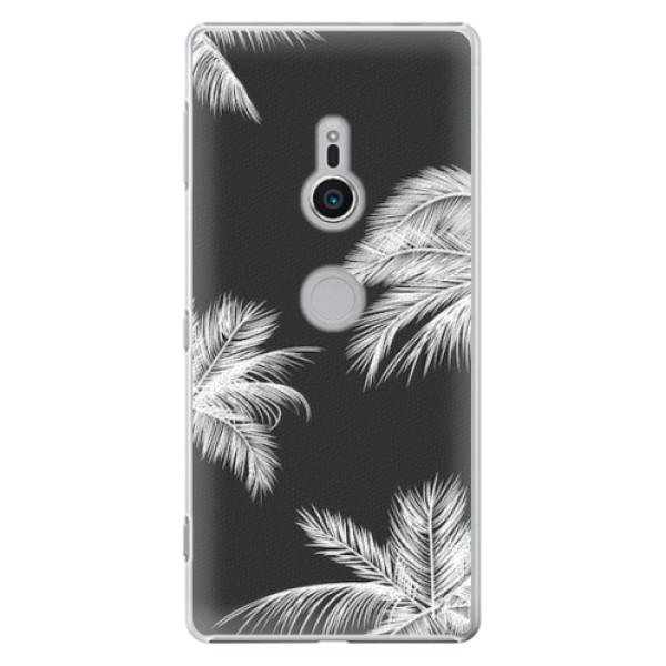 Plastové pouzdro iSaprio - White Palm - Sony Xperia XZ2