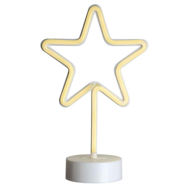 Vánoční dekorace svítící hvězda na stojánku - 88 LED, 30 cm