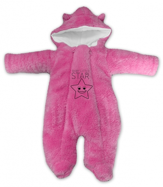 baby-nellys-zimni-chlupackova-kombinezka-little-star-ruzova-vel-68-68-4-6m
