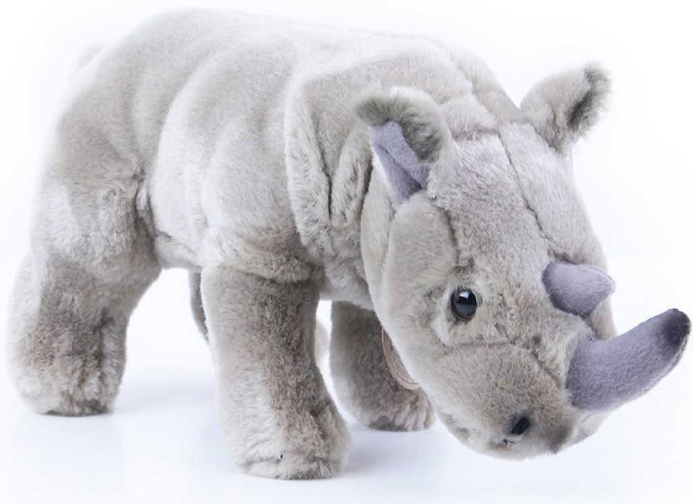 PLYŠ Nosorožec stojící 23cm exkluzivní kolekce *PLYŠOVÉ HRAČKY*