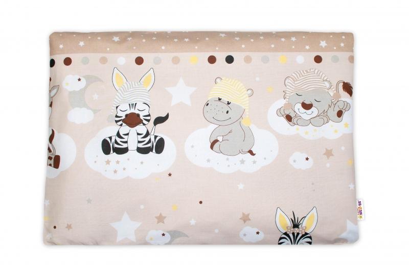 Baby Nellys Povlak na polštářek Safari Baby, 40x60 cm - béžový