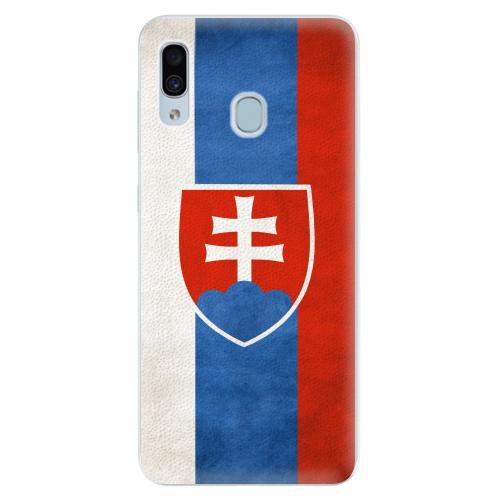 Silikonové pouzdro iSaprio - Slovakia Flag - Samsung Galaxy A30