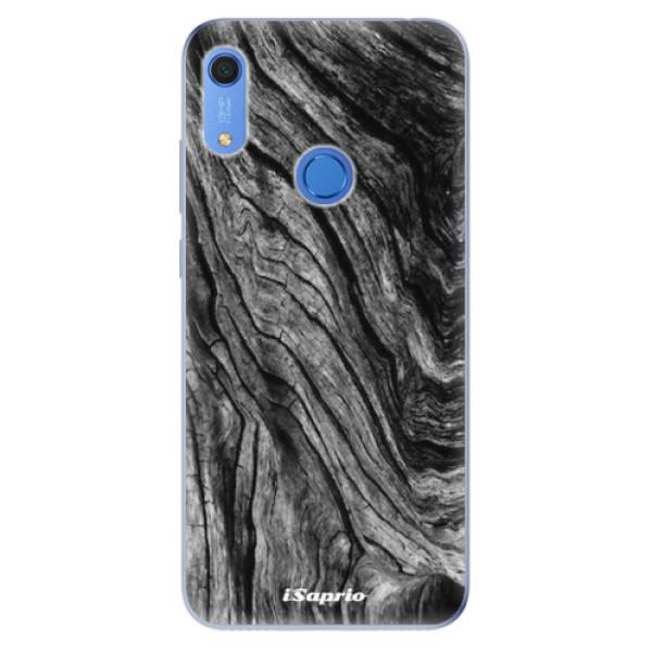 Odolné silikonové pouzdro iSaprio - Burned Wood - Huawei Y6s
