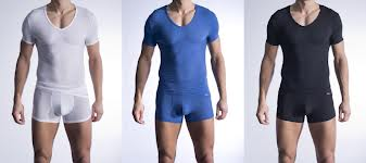 Pánské tričko V - Neck 1308 Olaf Benz - Modrá/L