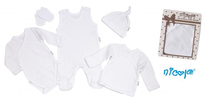 Soupravička do porodnice 5D Nicol - bílá, vel. 62 - 62 (2-3m)