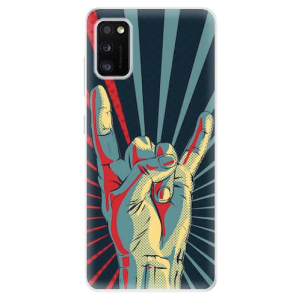 Odolné silikonové pouzdro iSaprio - Rock - Samsung Galaxy A41