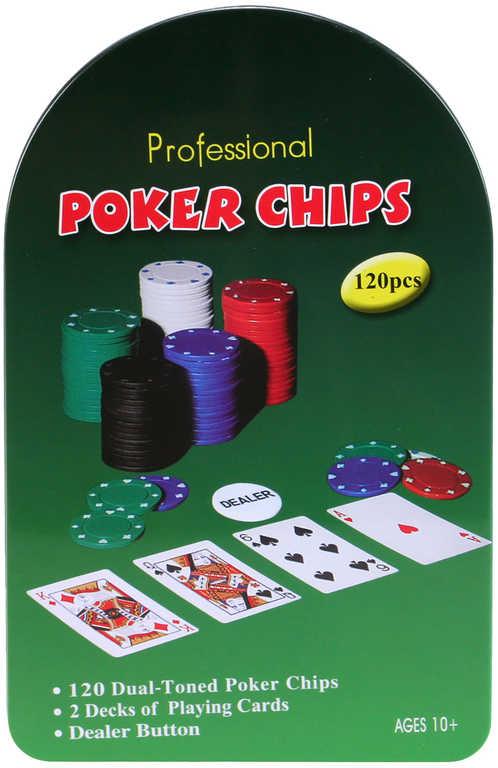 HRA Poker set v plechovém boxu *SPOLEČENSKÉ HRY*