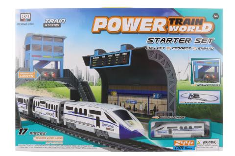 Vlaková souprava s rychlovlakem