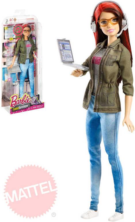 MATTEL Panenka BRB Barbie Coty herní vývojářka set s doplňky
