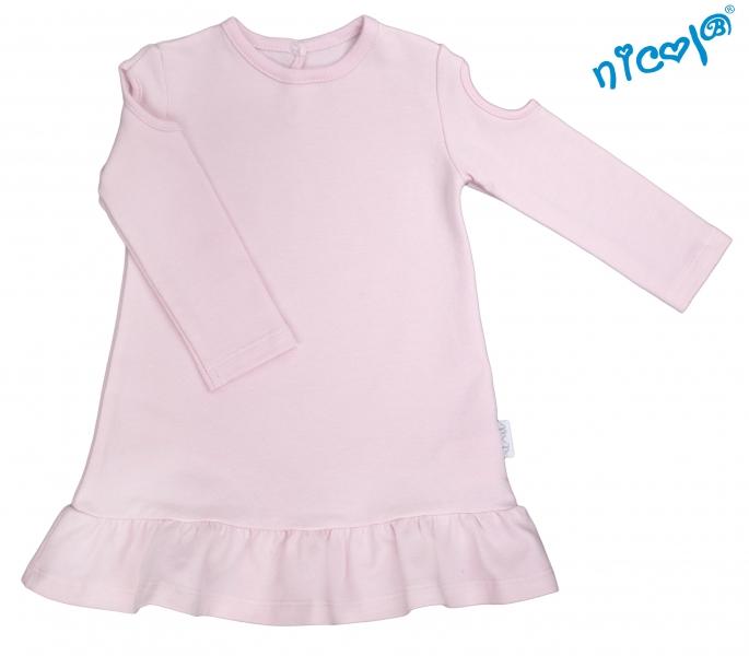 Kojenecké šaty Nicol, Paula - růžové, vel.